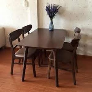 Cần thanh lý bộ bàn ghế tiếp khách, vì mua 2 bộ, nên dư 1 bộ, bàn ghế kiểu Hàn Quốc, màu nâu