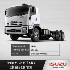Xe tải nặng ISUZU siêu dài ISUZU FVM34W (6X2) 15 tấn, 15T. Đại lý chính hãng. Hỗ trợ trả góp lãi suất