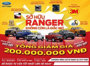 Ranger Giấc mơ có thật.Giảm 200 tr cho khách hàng mua xe. liên hệ để biết rõ hơn