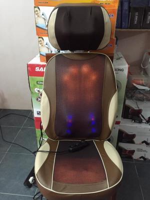 Đệm massage 5D F08 Nhật Bản, ghế mát xa toàn thân theo huyệt đạo giảm đau tại nhà