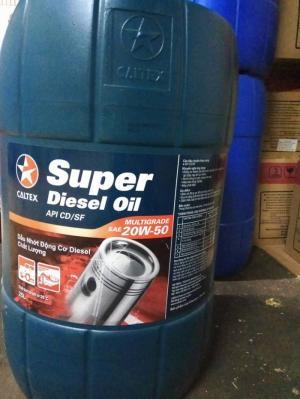 Dầu động cơ Oto Caltex Super Diesel Oil SAE 20W50 25L