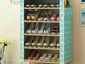 Tủ giày dép khung gỗ 7 tầng chắc chắn