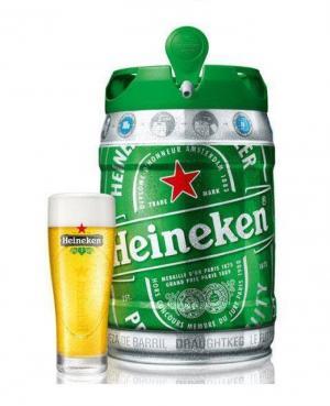 Bia Heineken 250ml, 500ml, bom 5l, chai nhôm Hà Lan 45.000đ.