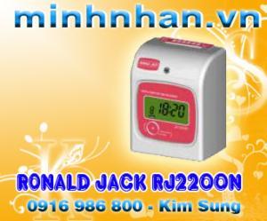 Phân phối máy chấm công thẻ giấy rj2200a/n chính hãng đài loan, siêu bền