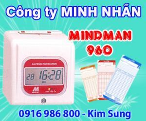 Máy chấm công thẻ giấy in bú siêu bền Mind man m960a, dễ sử dụng