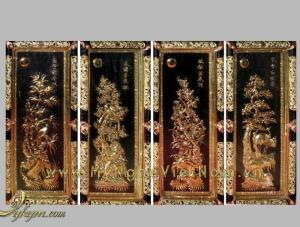 Tứ Quý Tùng Cúc Trúc Mai, tranh bốn mùa Xuân Hạ THu Đông, Tranh mừng tân gia ,khai trương