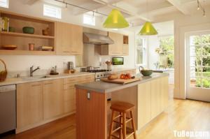 Tủ bếp MDF xanh chống ẩm bề mặt phủ Laminate...