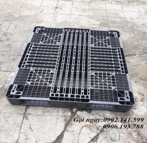 Pallet nhựa cũ Hà Nội - Pallet nhựa 1 mặt