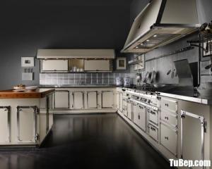 Tủ bếp gỗ Laminate màu trắng thiết kế hiện đại sang trọng – TBT28