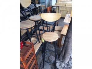 Ghế cafe quầy bar bằng gỗ