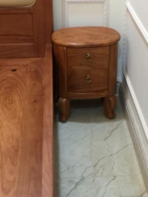 Tủ đầu giường tân cổ điển gỗ gõ đỏ - TDG002