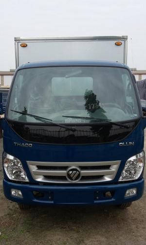 Xe tải Thaco OLLIN 500B bền bỉ, tiết kiệm nhiên liêu, Đời 2017 màu xanh duơng, giao xe nhanh