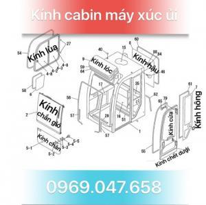 Kính máy xúc - Kính máy ủi - Kính xe công trình