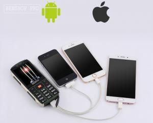 Điện thoại kiểu dáng quân đội 4 sim 4 sóng Servo H8