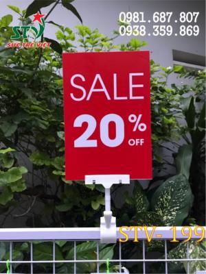 Wobbler để bàn Hà Nội, cung cấp wobbler quảng cáo Hà Nội, bán kẹp quảng cáo