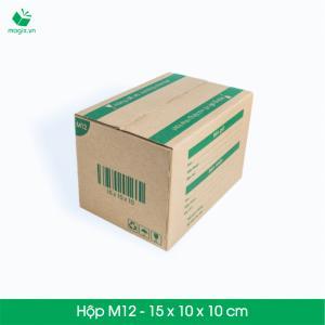 M12 - Size 15x10x10 cm- Hộp Carton đóng gói gửi hàng thu hộ COD