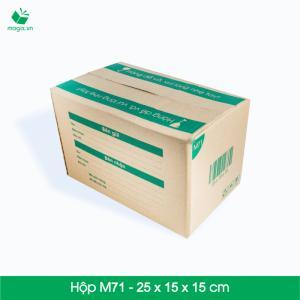 M71 - Size 25x15x15 cm- Hộp Carton đóng gói gửi hàng thu hộ COD