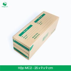 MC2 - Size 25x9x9 cm- Hộp Carton đóng gói gửi hàng thu hộ COD