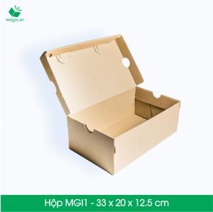 MGI1 - Hộp giày Size 32x20x12.5 cm- Hộp Carton đóng gói gửi hàng thu hộ COD
