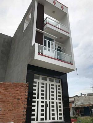 Bán nhà sổ hồng riêng, 1 trệt và 2 lầu, Đường oto vào tận nhà, nhà mới xây đủ tiện nghi. Khu dân cư hiện hữu đông đúc chỉ Giá 2,7 tỷ.
