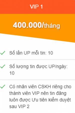 Báo giá gói VIP 1 Ngày up tin tăng hiệu quả bán hàng