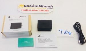 Sạc Nhanh Aukey PA-T14, 3 USB, Công Nghệ Sạc Nhanh QC 3.0 + Tặng 1 Cáp Sạc Micro