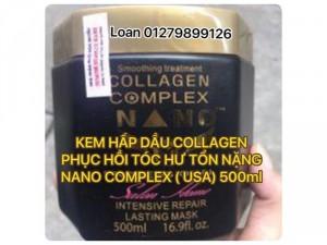 Kem Hấp Dầu Collagen Nano Complex Phục Hồi Tóc Hư Tổn Nặng Usa 500ml