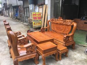 Đồ gỗ nội thất Trung Thanh -Bộ gỗ lim tay 12 bộ nghê đỉnh