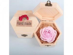 Hoa hồng sáp 3 lớp kèm hộp gỗ