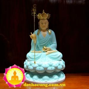 Tượng địa tạng Vương Bồ Tát bằng đá ngọc xanh