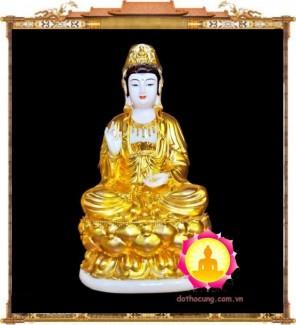 Tượng Phật Quan Âm Đá Vàng