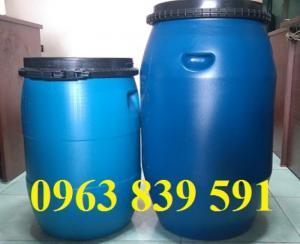 Thùng phi nhựa 50L-thùng đựng hóa chất -thùng công nghiệp.
