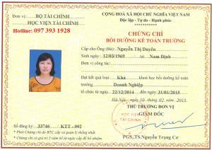 Địa chỉ học kế toán trưởng tại Quảng Ninh