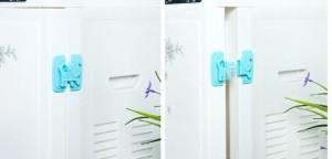 Dụng cụ gài cửa đa năng có tác dụng giữ chặt các loại cửa trong gia đình bạn như cửa tủ, cửa phòng, tủ lạnh, lò vi sóng, cửa kính… tránh kẹp tay gây thương tích cho các bé...