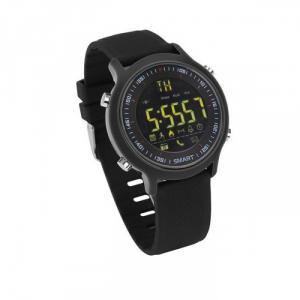 Đồng hồ thông minh chống nước Android iPhone đi bơi smart watch Đen dây da