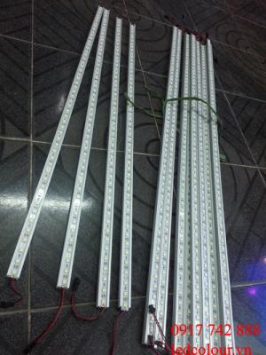 Bóng 2 hàng led thanh 1m có máng nhôm