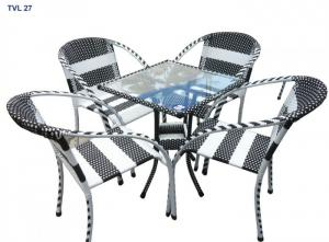 Bàn ghế cafe, nhà hàng..bàn ghế mây nhựa Bền-rẻ-đẹp