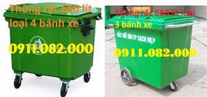 Thùng rác công cộng, thùng rác y tế, thùng rác 120 lít, xe đẩy rác, xe gom rác giá rẻ