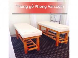 Bán giường gỗ spa massage