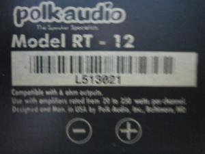 Loa Polkaudio Rt 12 (Made In Usa)