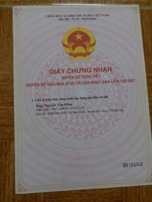 Chính chủ bán đất thôn Hoàng Dương,Mai Đình,Sóc Sơn,DT 190m2,MT 9m