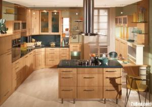 Tủ bếp Veneer Sồi Mỹ giữ nguyên vẻ đẹp của...