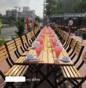 Bàn ghế gỗ cafe nhà hàng giá rẻ