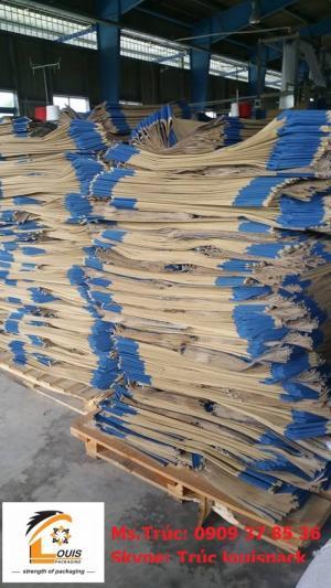 Bao giấy Kraft: 25kg tiêu, sữa bột, hóa phẩm, xi măng