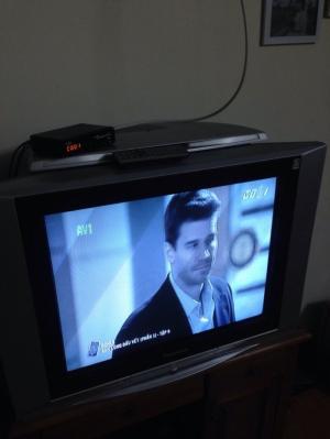Thanh lý bộ Tivi panasonic 29 inch siêu phẳng zin 100%+ đầu thu KTS đời mới