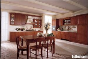 Tủ bếp gỗ Sồi Mỹ mang sự ấm áp vào không gian...