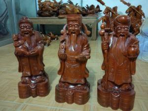 Tượng Tam Đa, gỗ xà cừ,giao hàng toàn quốc