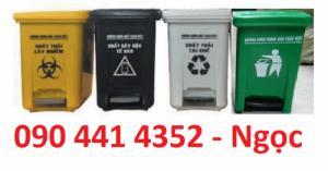 Thùng đựng rác y tế 15 lít, thùng chứa rác 20 lít, thùng rác có đạp chân 20 lít màu vàng, trắng, đen, xanh