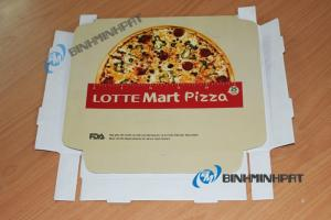 In hộp bánh pizza - hộp bánh pizza Lotte Mart