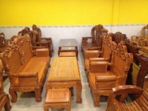 Bộ bàn ghế tay hộp gỗ bên